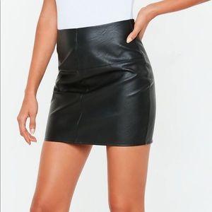 Faux leather mini